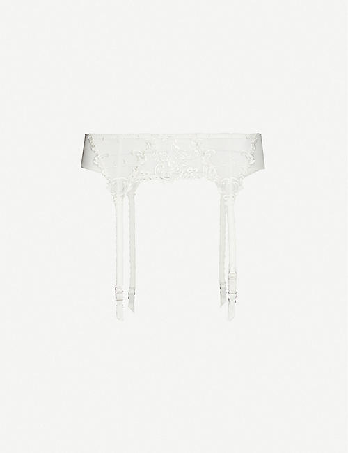 WACOAL: Decadence high-rise mesh suspender belt