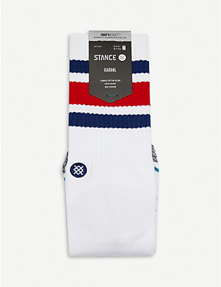 STANCE: Boyd classic crew combed cotton-blend socks