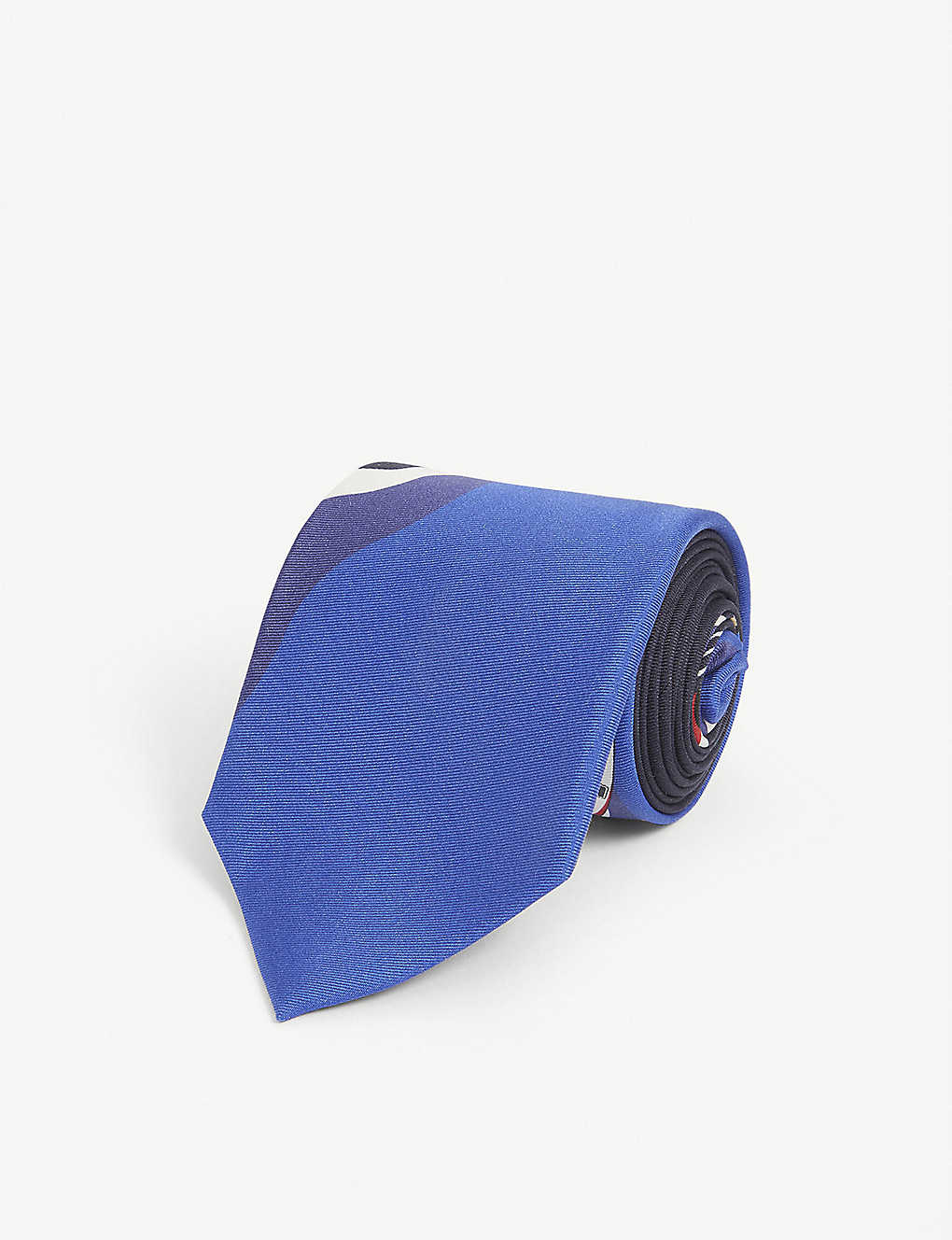 RALPH LAUREN PURPLE LABEL: Boat-print silk tie