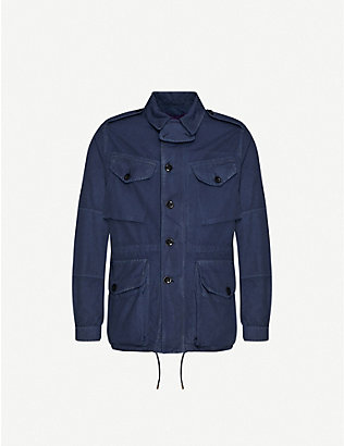 RALPH LAUREN PURPLE LABEL: Relaxed-fit cotton-twill jacket