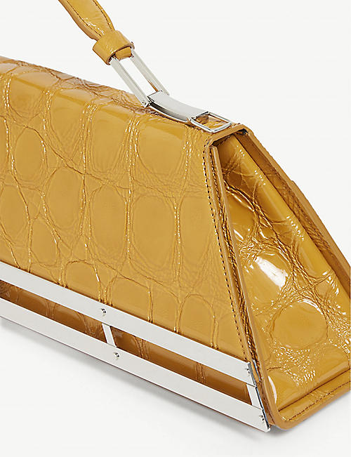 Y/PROJECT Doctor croc-embossed leather bag