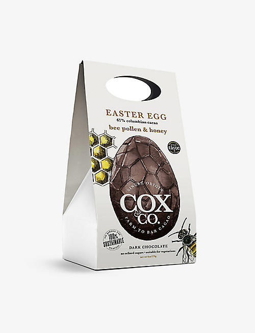 COX & CO Bee pollen and honey 61% dark chocolate Easter egg 170g
