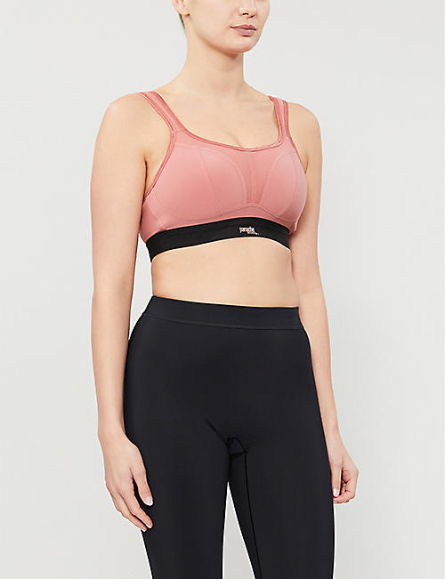 PANACHE Non-wired stretch-jersey sports bra
