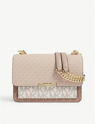 MICHAEL MICHAEL KORS: Jade monogram print shoulder bag