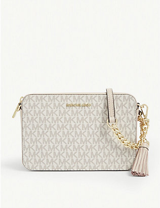 MICHAEL MICHAEL KORS: Ginny monogram print cross-body bag