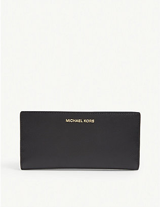 MICHAEL MICHAEL KORS: Jet Set leather wallet and card holder