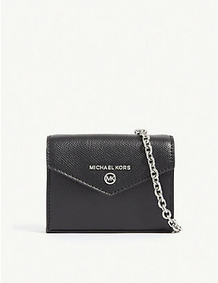 MICHAEL MICHAEL KORS: Jet Set leather micro cross-body bag