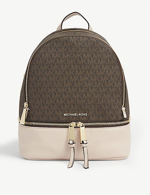MICHAEL MICHAEL KORS: Rhea medium leather backpack