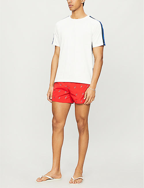 PAUL SMITH Embroidered pattern swim shorts