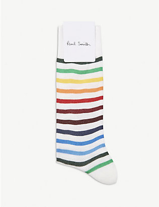 PAUL SMITH: Rainbow cotton-blend socks