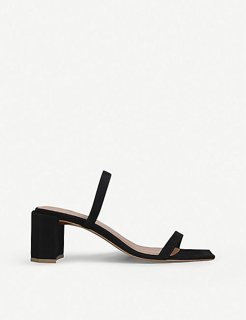 BY FAR: Tanya heeled suede mules