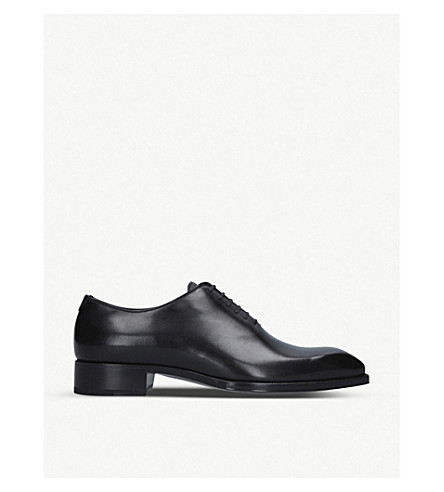 Tom Ford ELKAN WHOLE-CUT LEATHER OXFORD SHOES