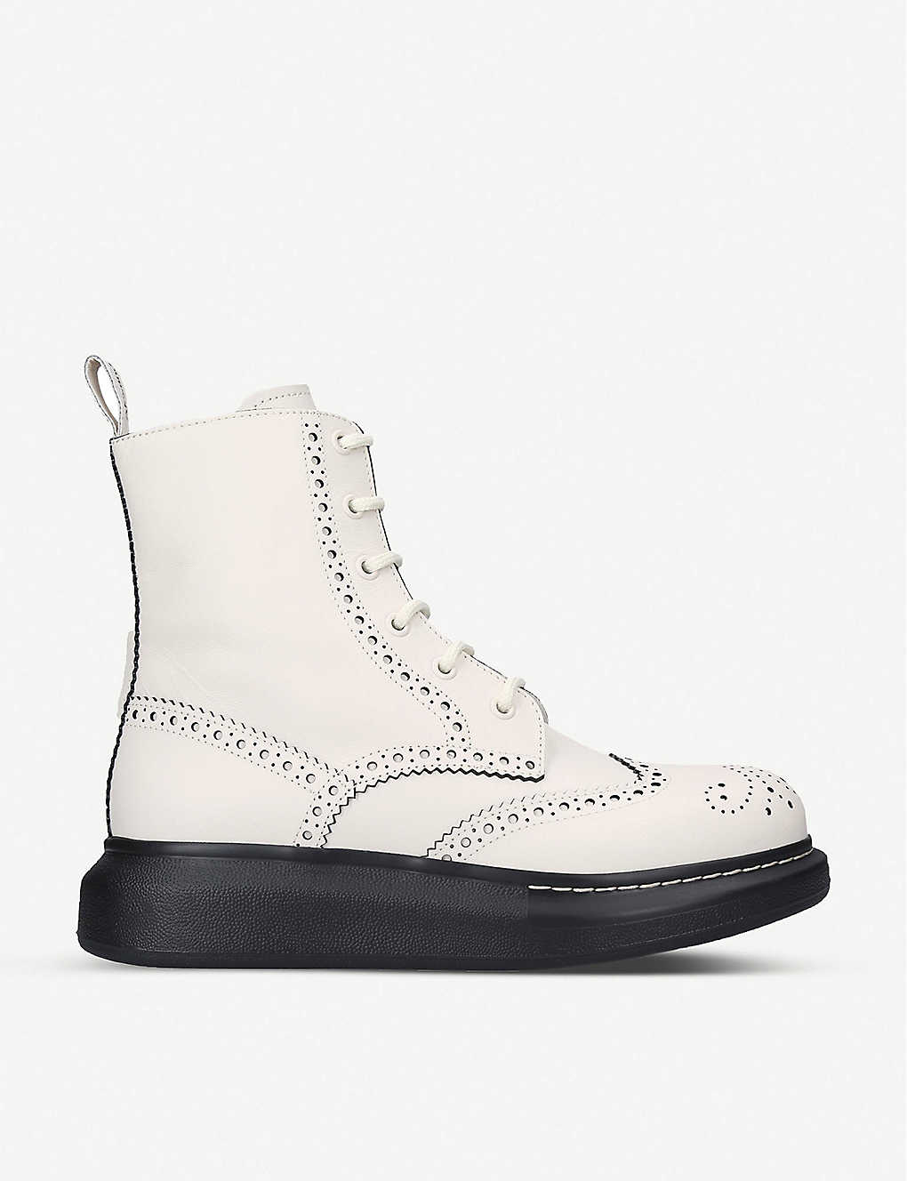 ALEXANDER MCQUEEN: Hybrid leather ankle boots