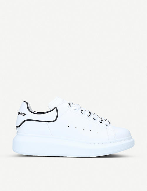 ALEXANDER MCQUEEN: Runway contrast-trim leather platform trainers