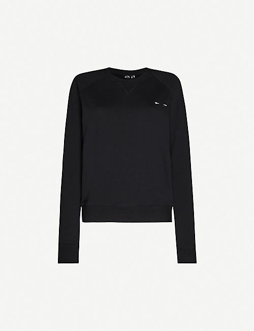 THE UPSIDE: Bondi embroidered cotton-jersey sweatshirt