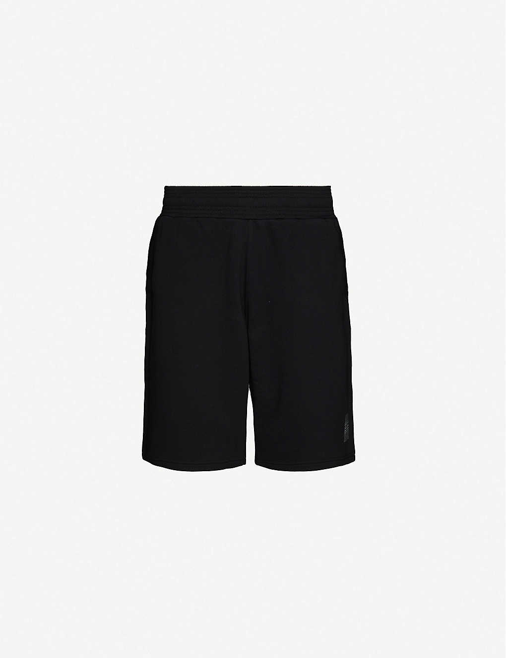 GIVENCHY: Wide relaxed-fit cotton-jersey shorts