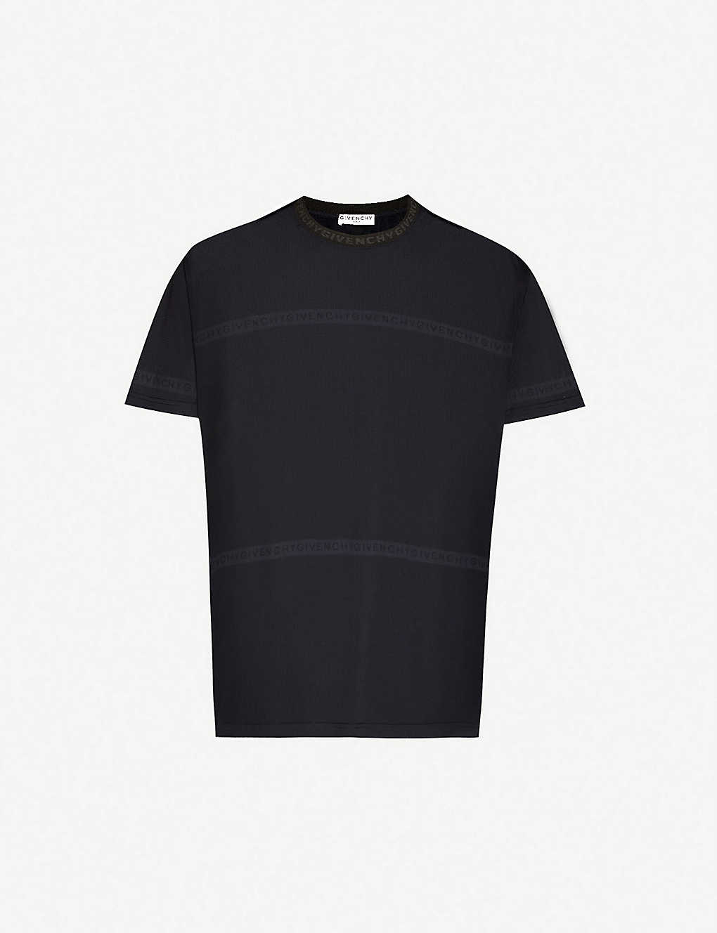 GIVENCHY: Logo-print knitted T-shirt