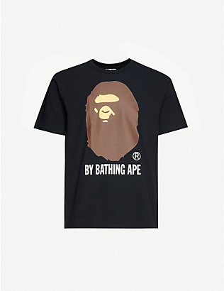 A BATHING APE: Big Ape logo-printed cotton-jersey T-shirt