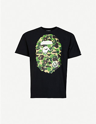 A BATHING APE: Big Ape Head cotton-jersey T-shirt