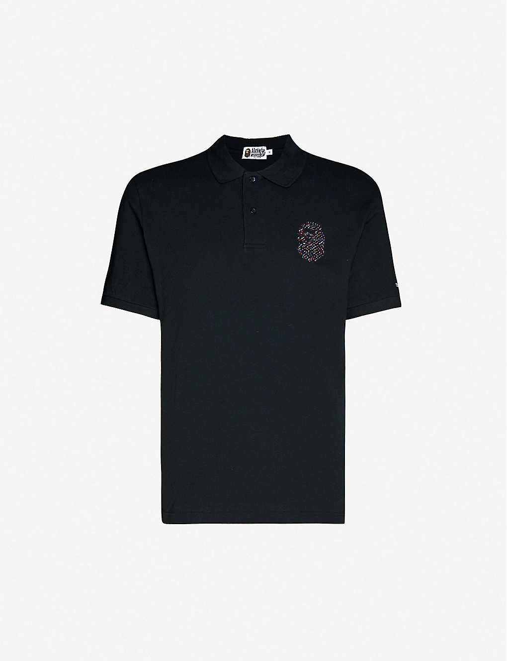 A BATHING APE: Ape-embellished cotton-piqué polo shirt