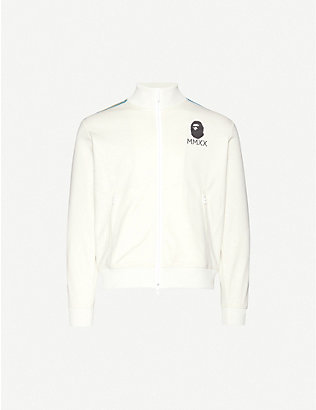 A BATHING APE: Striped shell tracksuit jacket