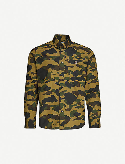 A BATHING APE: 1st Camo camouflage-print slim-fit cotton shirt
