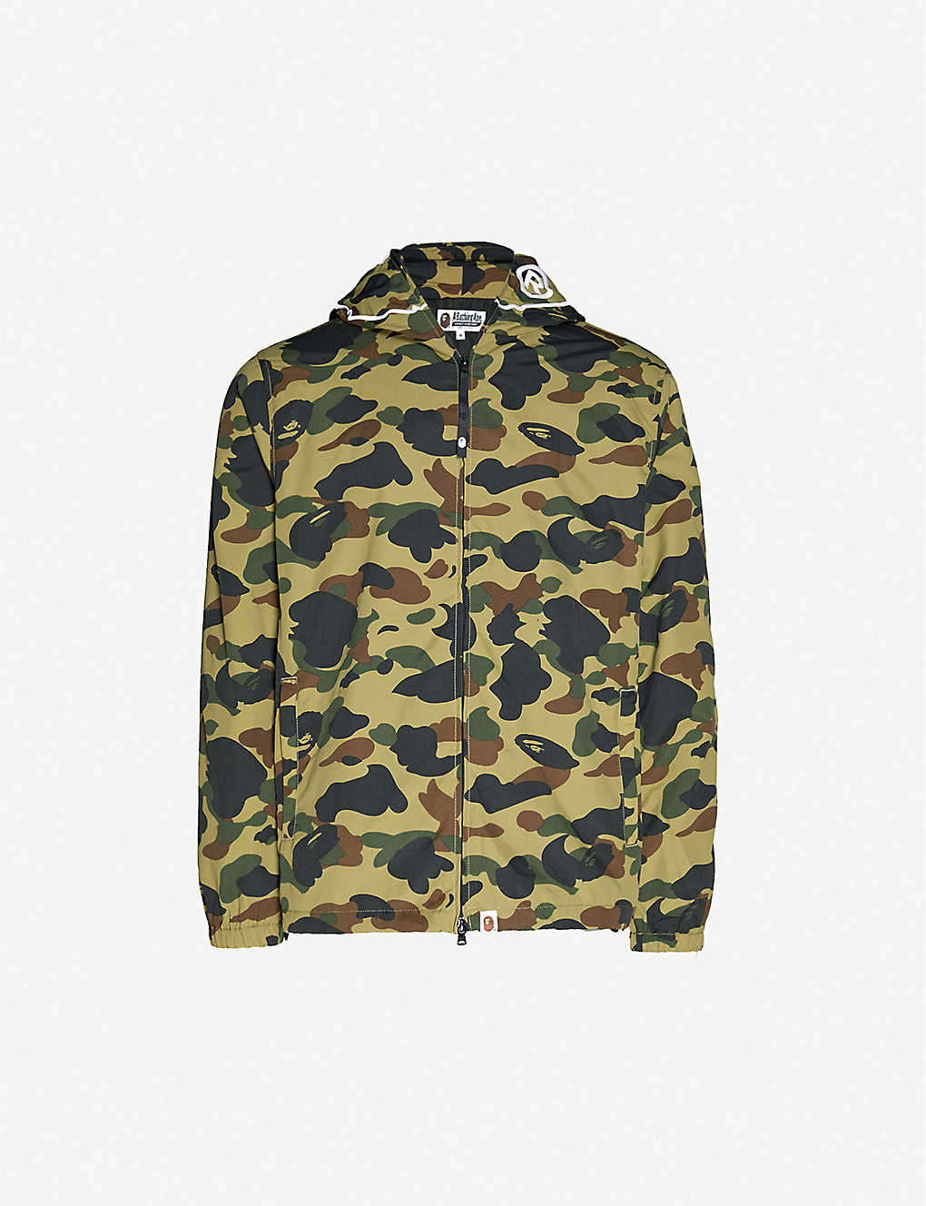 A BATHING APE: 1st Camo 2nd Ape zip-up hooded jacket