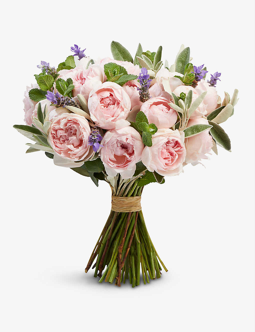 THE REAL FLOWER COMPANY: Simply Peony Pink Rose medium scented bouquet