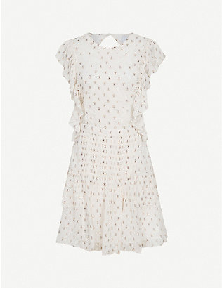 REISS: Valerie floral-print crepe mini dress