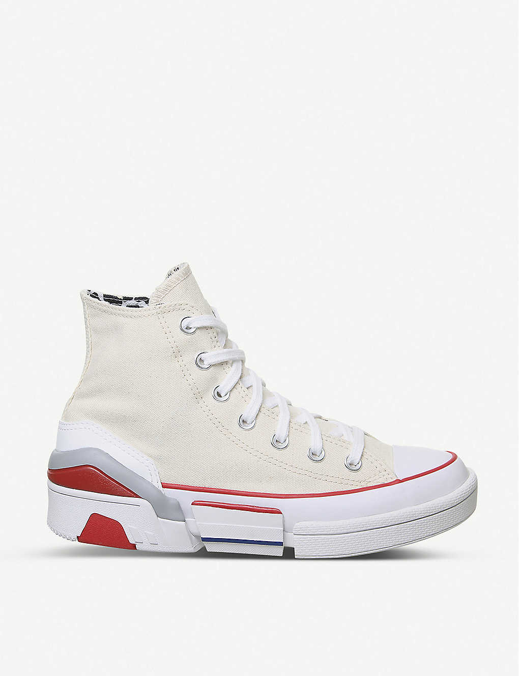 CONVERSE: CPX70 panelled canvas high-top trainers