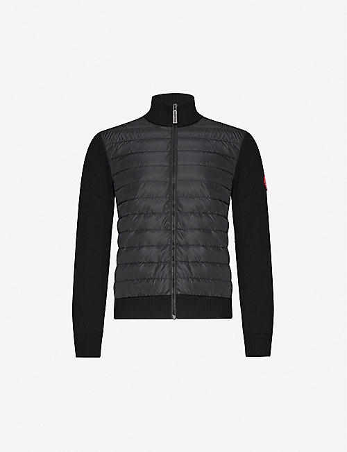 CANADA GOOSE: Hybridge wool and shell-down jacket