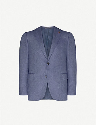 PAL ZILERI: Single-breasted silk blazer