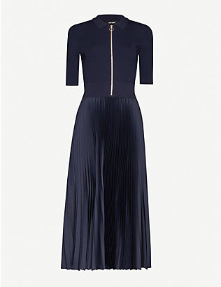 ME AND EM: AM-PM pleated midi dress