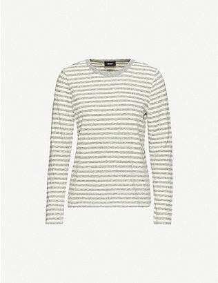 ME AND EM: Breton-striped cotton-jersey T-shirt