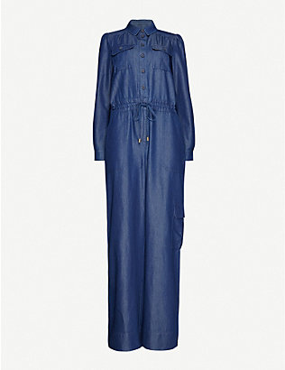 ME AND EM: Fluid denim jumpsuit