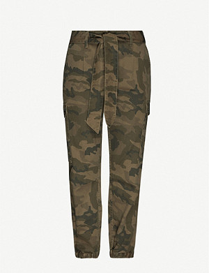 ME AND EM Camouflage-print cotton-twill trousers