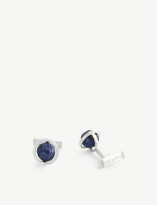 TED BAKER: Shopdo rotating globe cufflinks