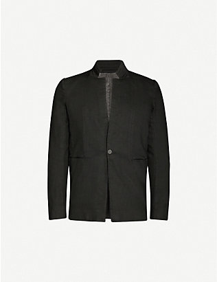 BORIS BIDJAN SABERI: Resin-dyed cotton-blend jacket
