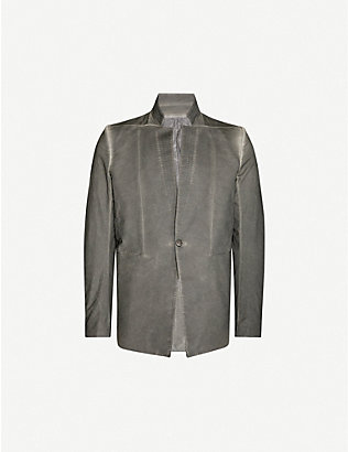 BORIS BIDJAN SABERI: Resin-dyed stretch-cotton jacket