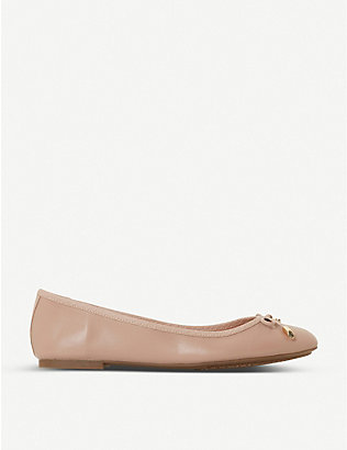 DUNE: Harpar 2 round-toe leather ballet flats