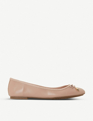 DUNE Harpar 2 round-toe leather ballet flats