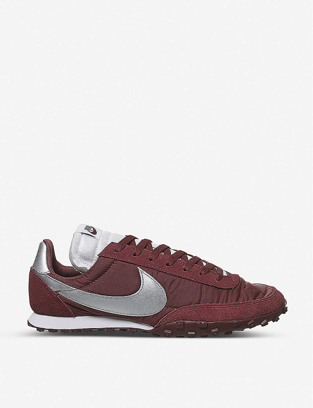 NIKE: Waffle Racer nylon and suede trainers