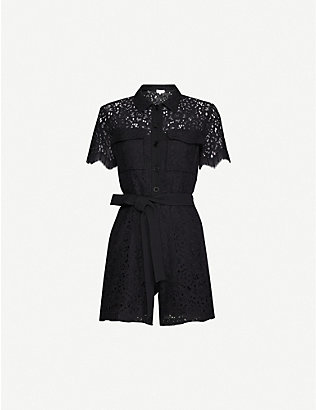 CLAUDIE PIERLOT: Floral-pattern cotton-blend jumpsuit