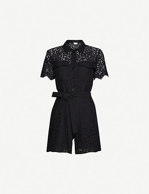CLAUDIE PIERLOT Floral-pattern cotton-blend jumpsuit