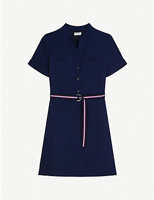 CLAUDIE PIERLOT: Roussee woven midi dress