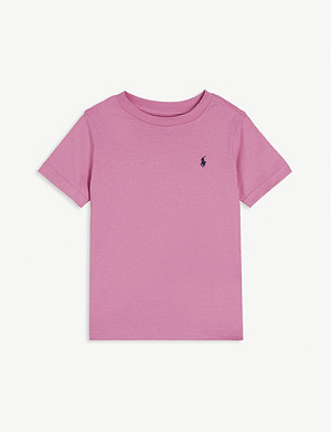 RALPH LAUREN Logo-print cotton T-shirt 2-14 years