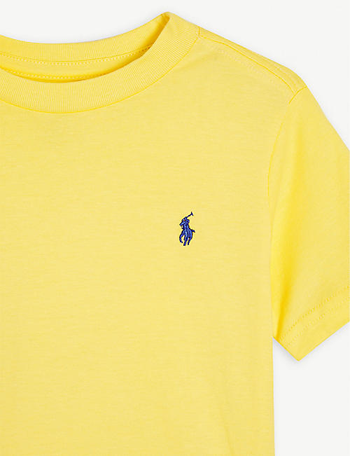 RALPH LAUREN Embroidered logo cotton T-shirt 2-16 years