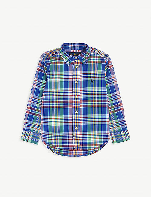 RALPH LAUREN: Check cotton shirt 2-14 years
