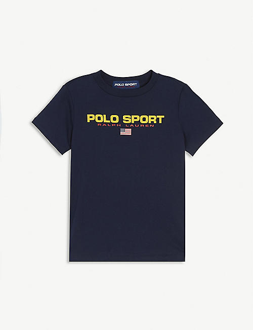 RALPH LAUREN: Sport logo cotton T-shirt 2-14 years
