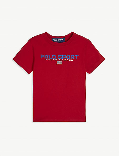 RALPH LAUREN: Logo-print cotton T-shirt 2-16 years